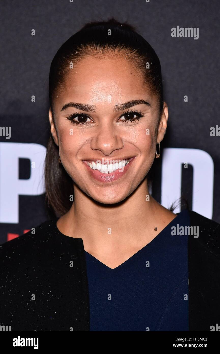 New York, NY, USA. 23rd Feb, 2016. Misty Copeland in attendance for ECLPISED Preview Performance on Broadway, John - Stock Image