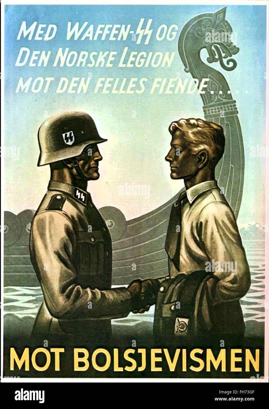 WW2 German Norway Fight Against Bolshevizm Poster