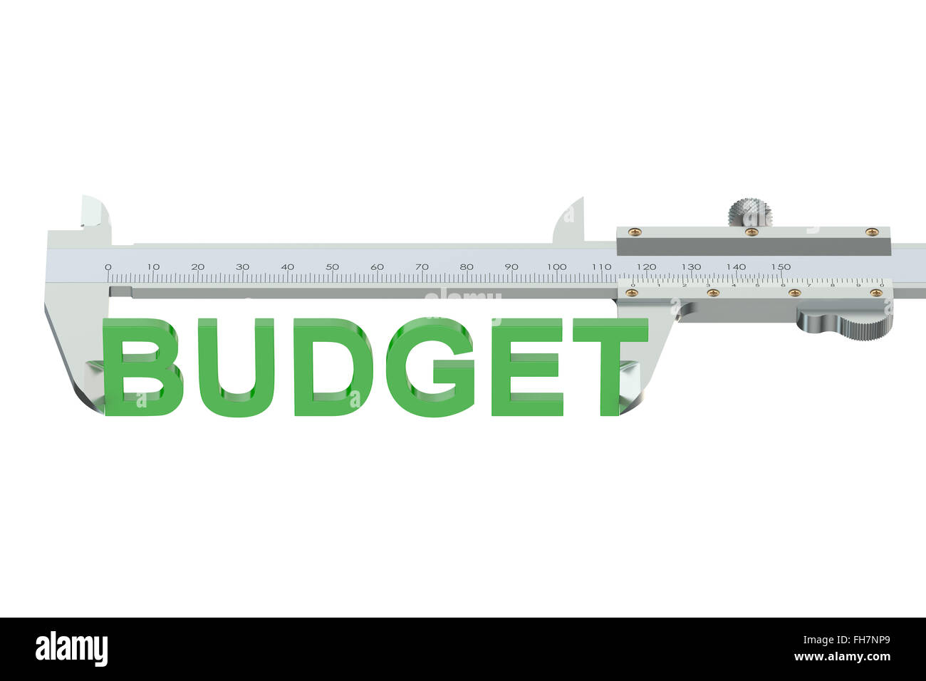 measuring budget concept isolated on white background - Stock Image