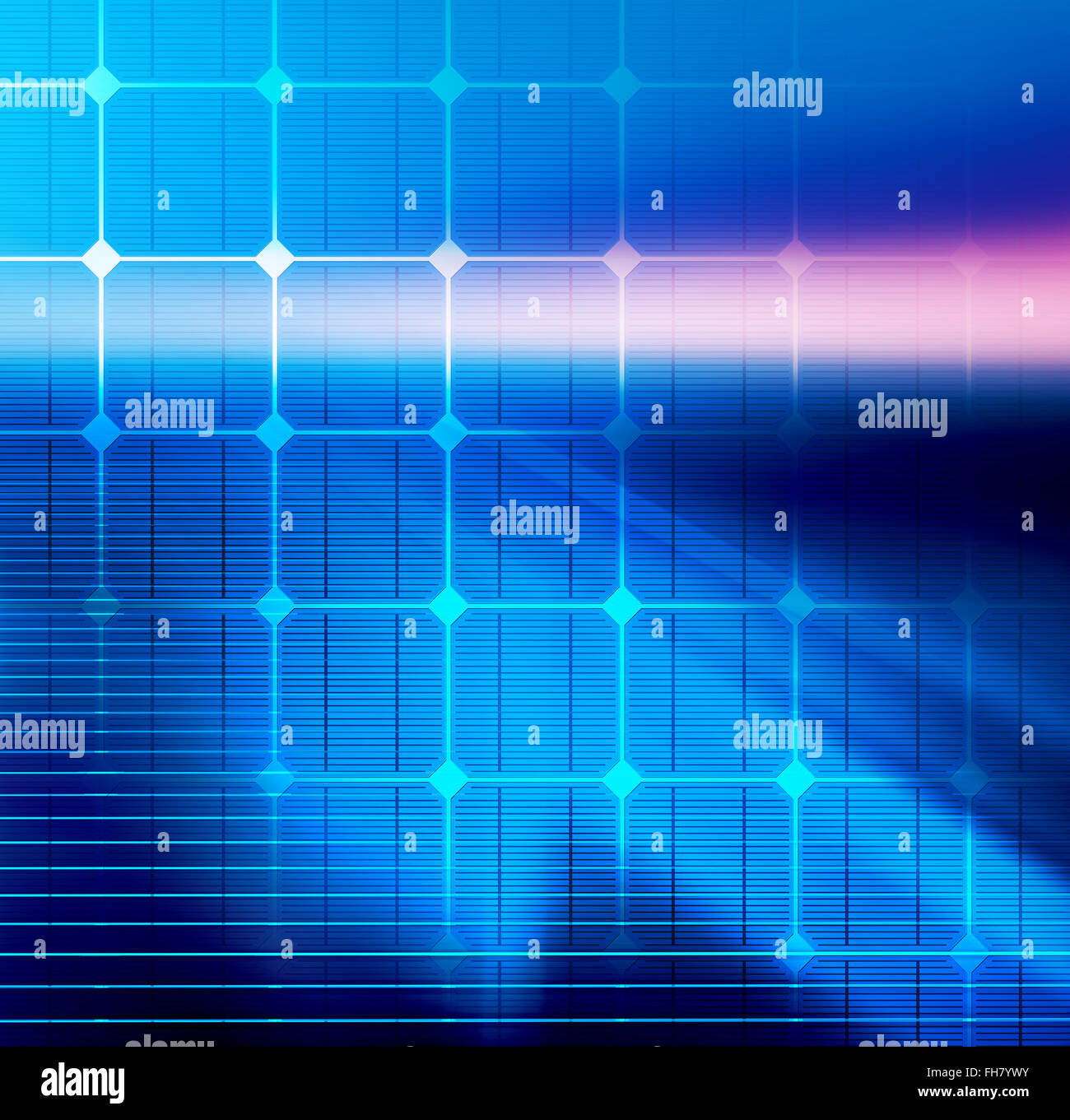 Technology background with transparent geometric shapes - Stock Image