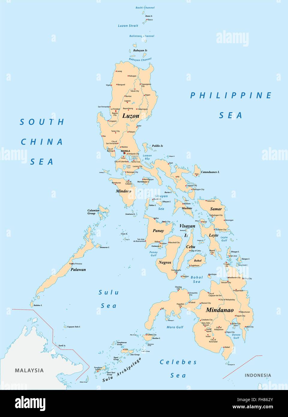 Philippines map - Stock Image