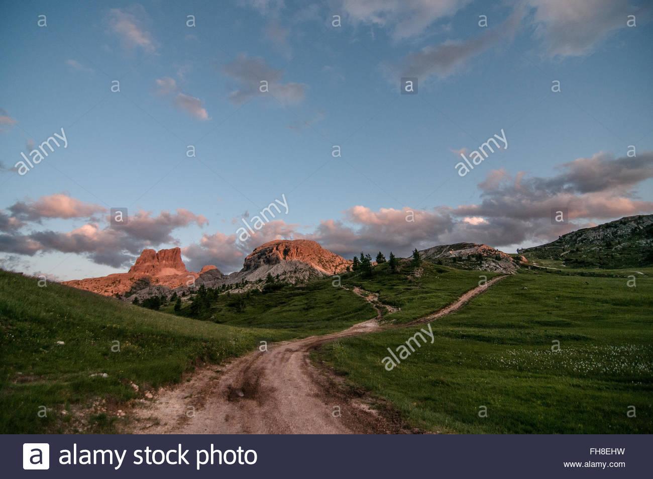 A path in Dolomiti - Stock Image