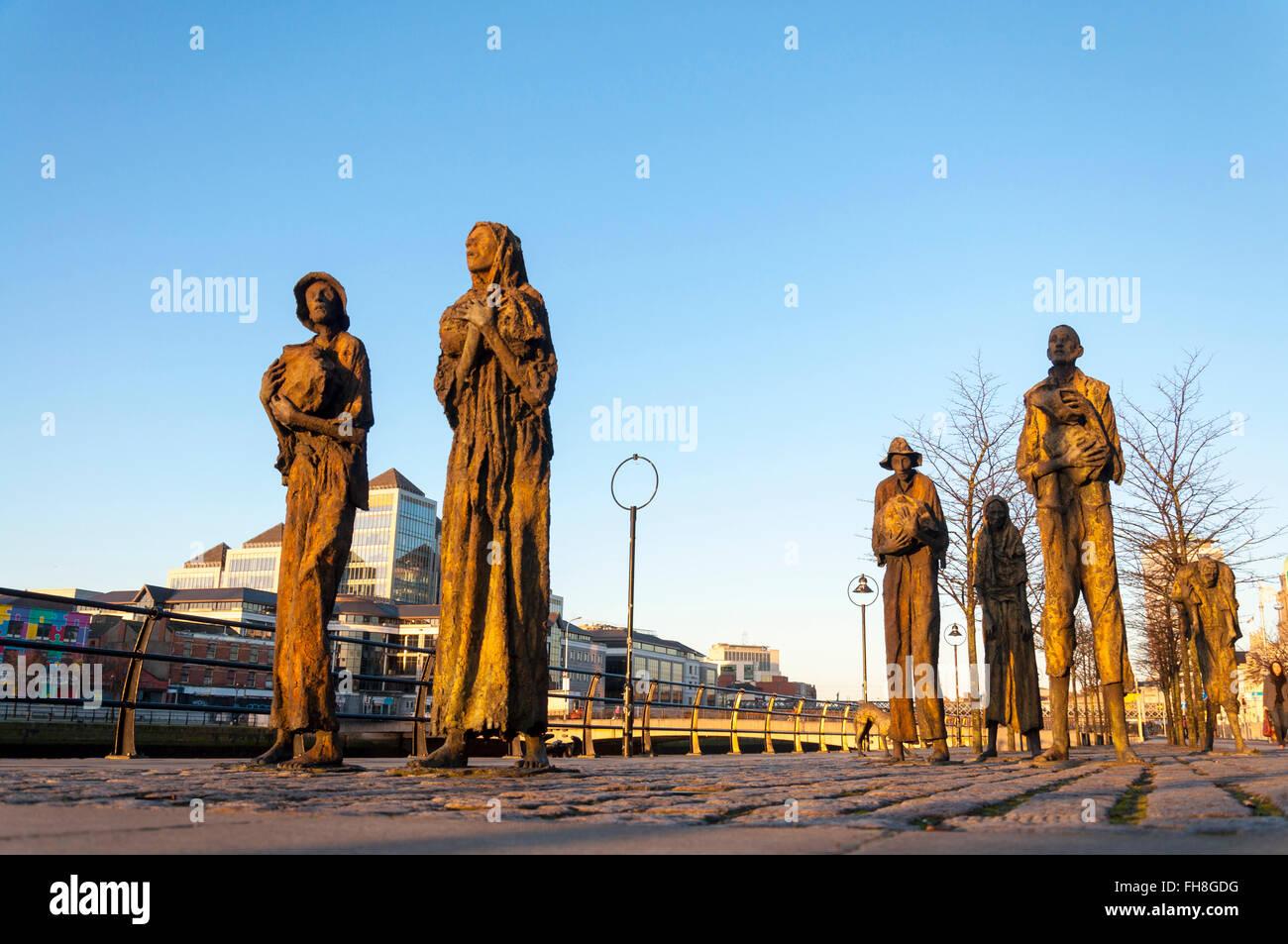 The Famine Memorial, Dublin, Ireland - Stock Image