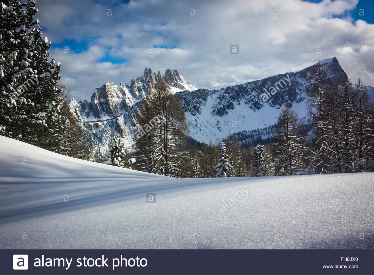 Dolomiti in winter - Stock Image