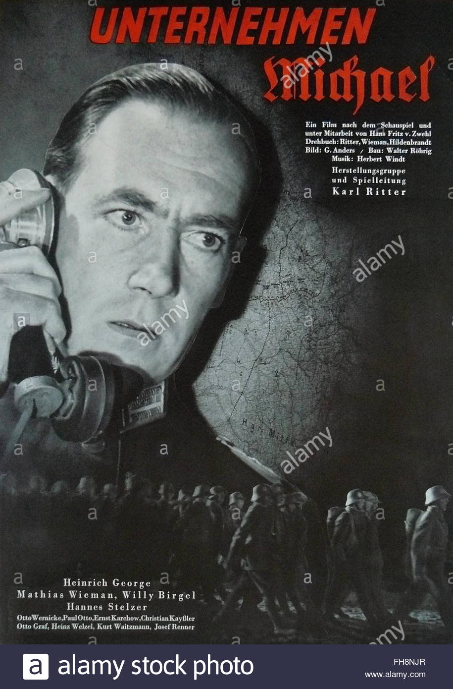 movie poster, 'The Private's Job' (Unternehmen Michael), DEU 1937, director: Karl Ritter, movie with: - Stock Image
