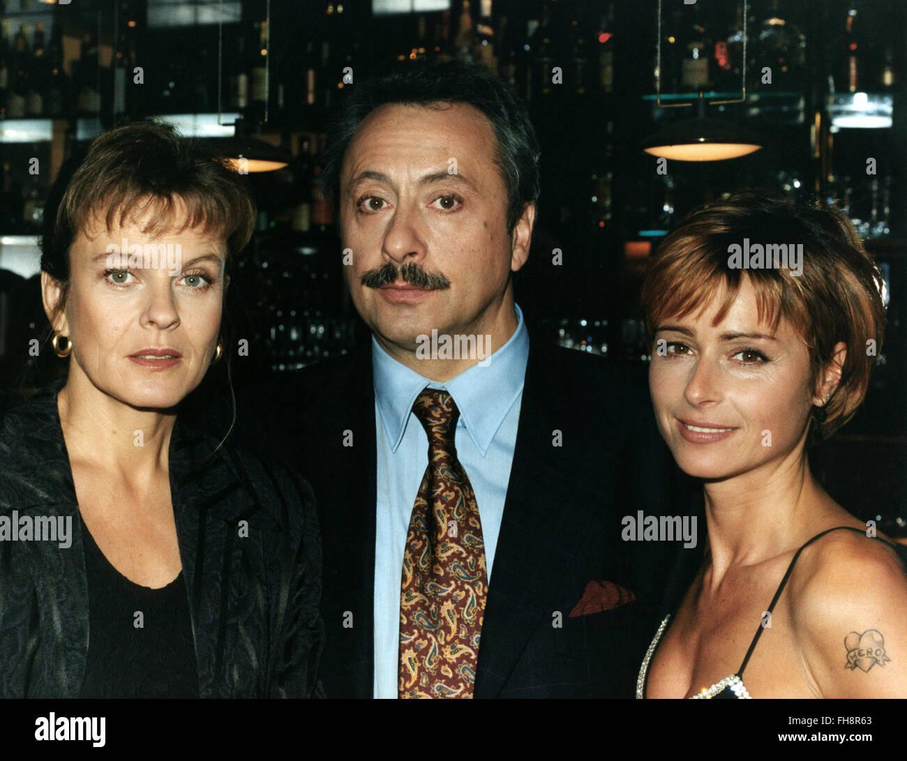 TV series, 'Die Geliebte', 2nd season, episode 7, 'Wie Du mir, so ich Dir', DEU 1997, making of: - Stock Image