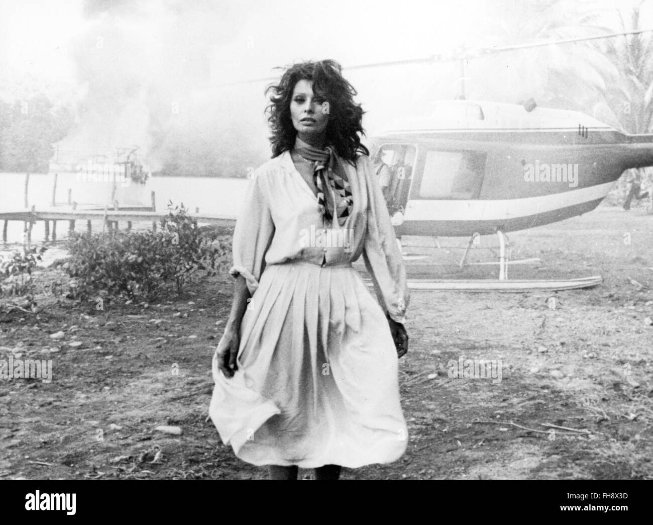 movie, 'Firepower', GBR 1979, director: Michael Winner, scene with: Sophia Loren, Third-Party-Permissions - Stock Image