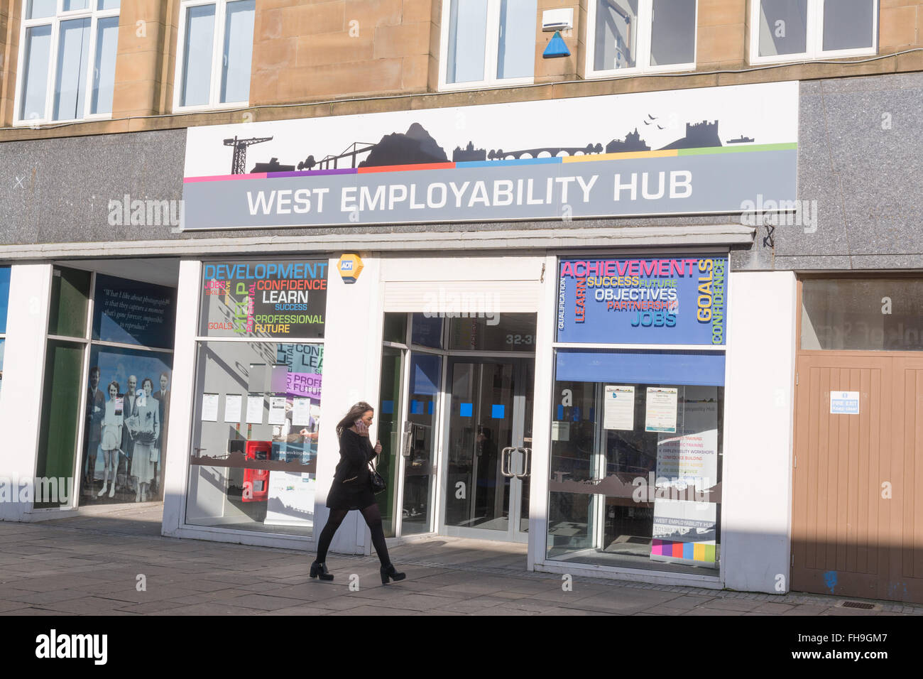 West Employability Hub - a job centre for young people - Dumbarton, West Dunbartonshire, Scotland, UK - Stock Image