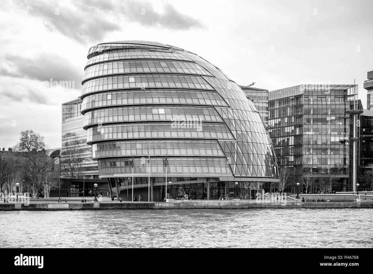 London County Hall from the Thames - Stock Image