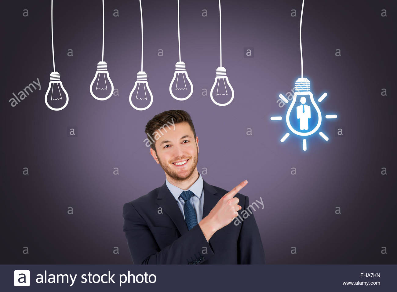 Businessman Human Resource Idea - Stock Image