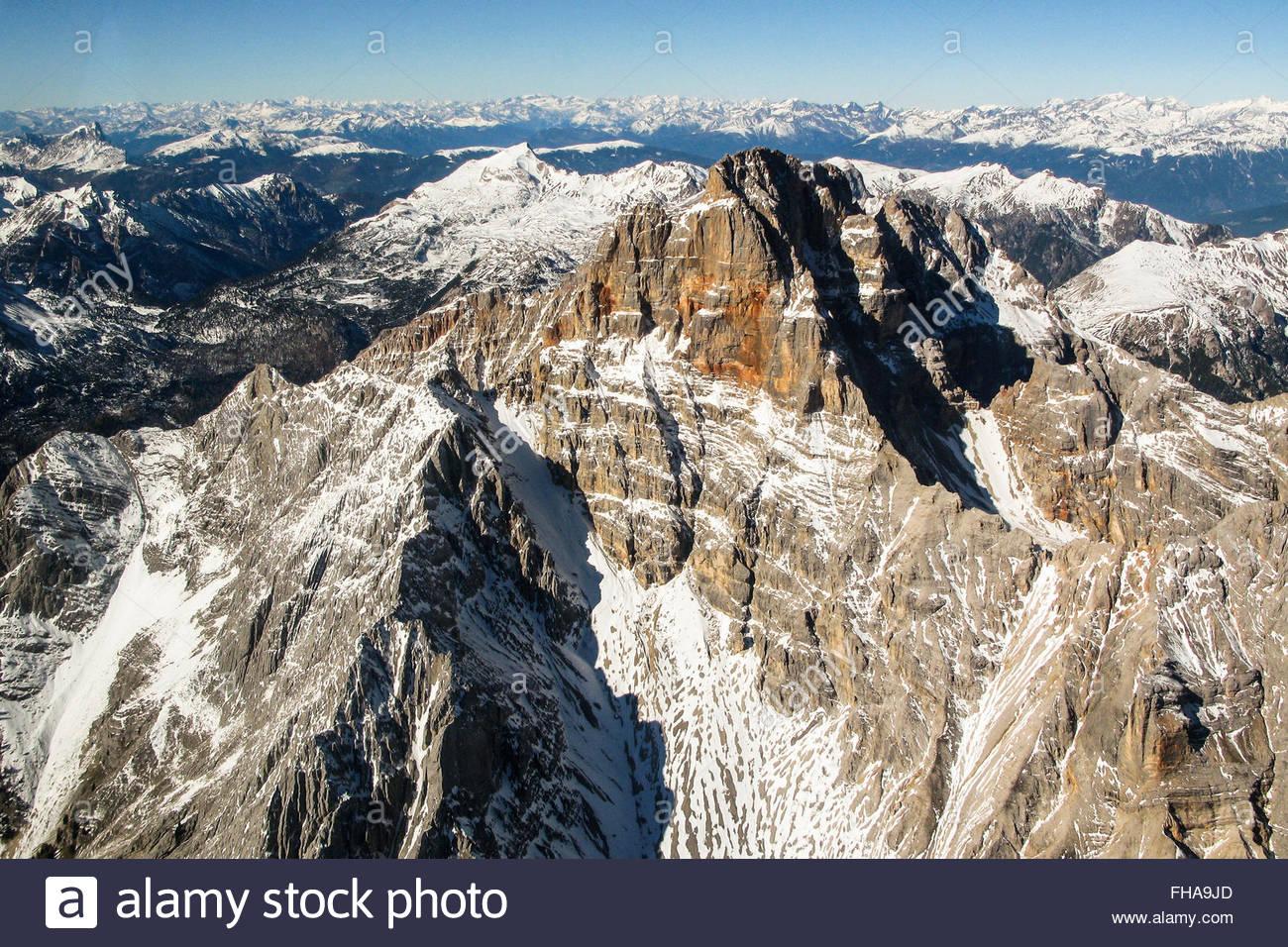 Croda Rossa d'Ampezzo - Dolomiti - Stock Image