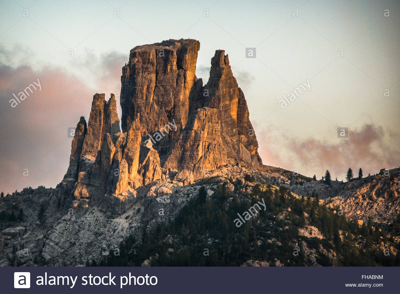 5 Torri - Dolomiti - Stock Image