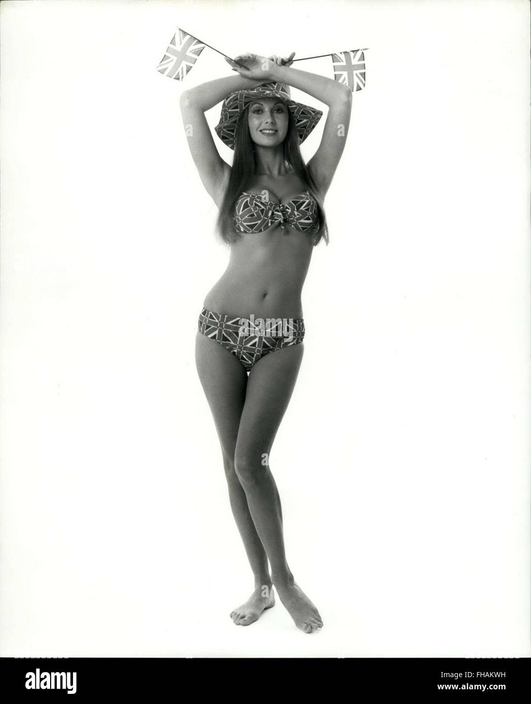 1973 - Green-eyed, brown-haired Marilyn Cole, Playboy Playmate of the year for 1973, is 5'8'' weighs 118 lbs, and Stock Photo
