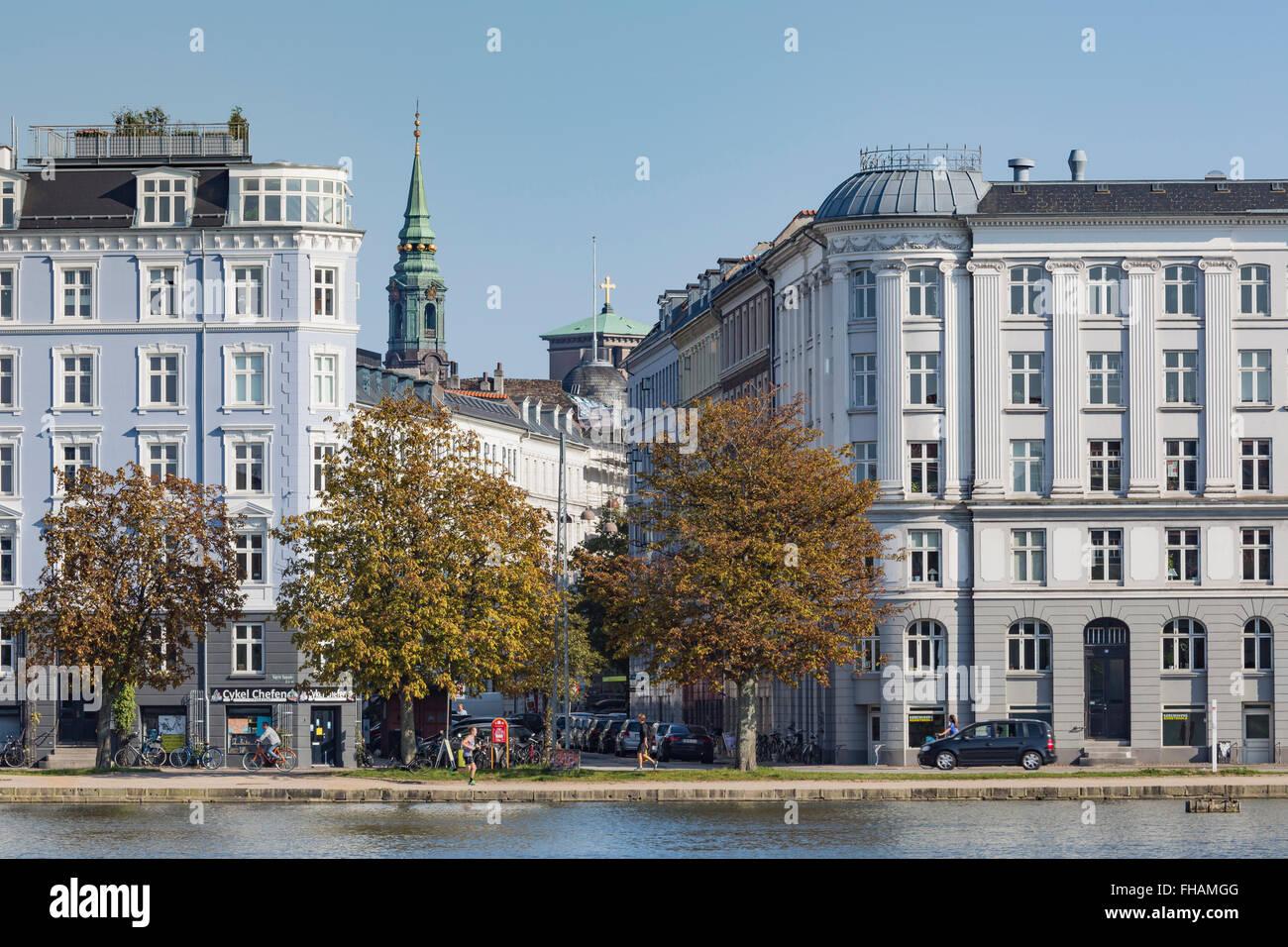 COPENHAGEN, DENMARK -SEPTEMBER 8: Sortedams Soe in Copenhagen, Denmark  in September 8, 2014. - Stock Image
