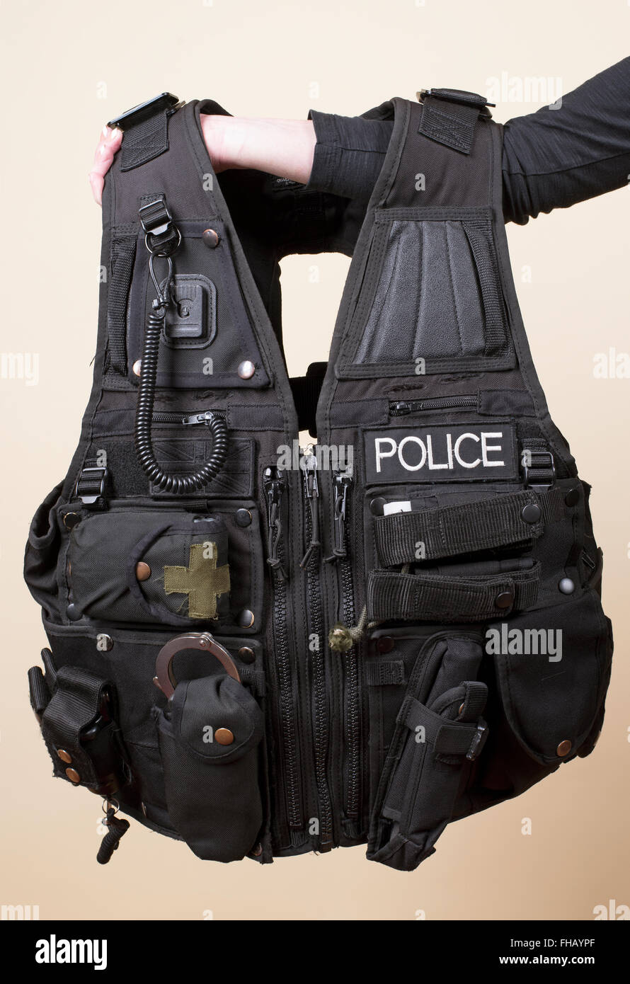 Police tactical vest - Stock Image