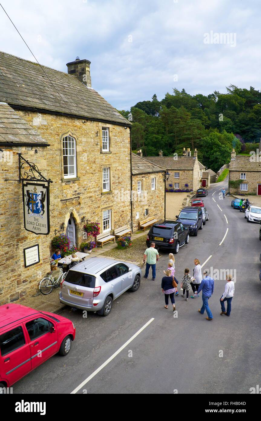 The Lord Crewe Arms, Blanchland, Derwent Valley, North Pennines Area of Outstanding Natural Beauty, Northumberland, - Stock Image
