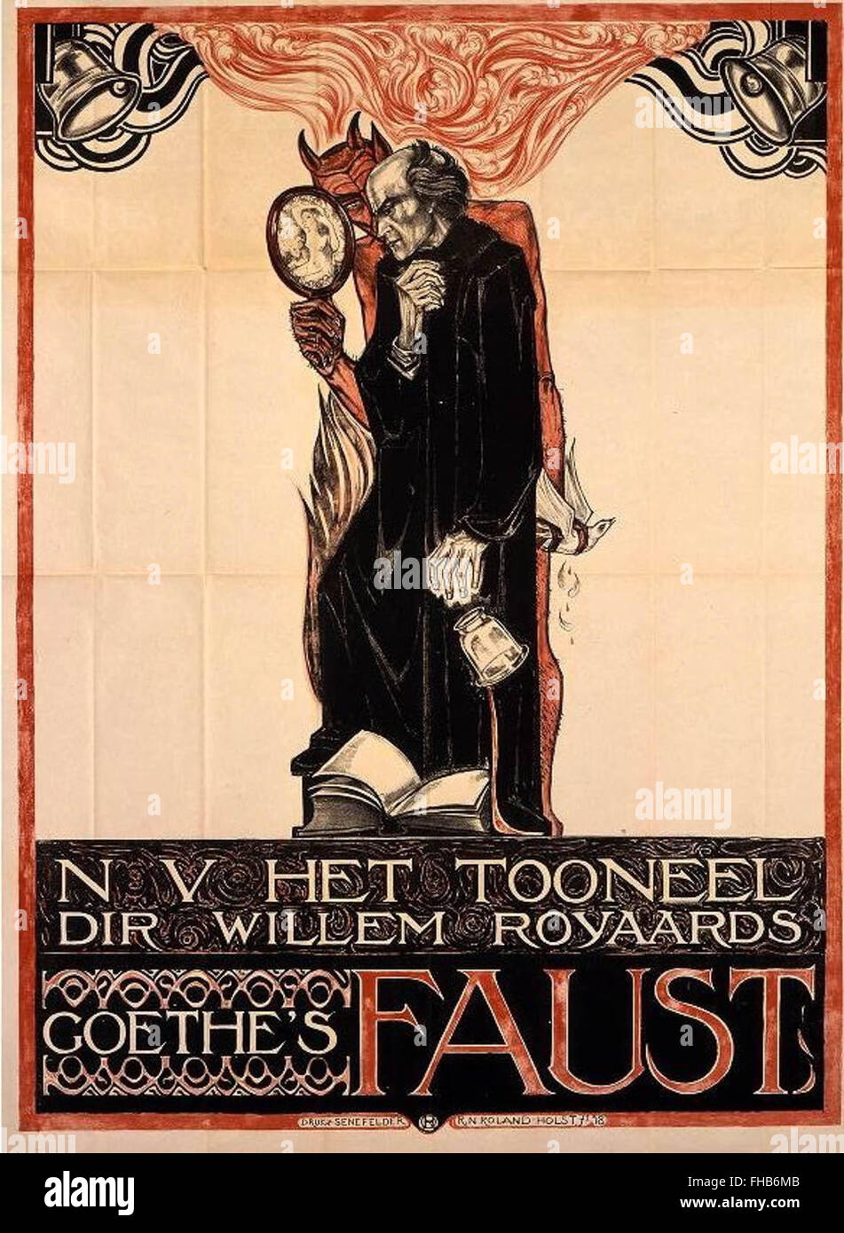 Historical Faust poster - Stock Image