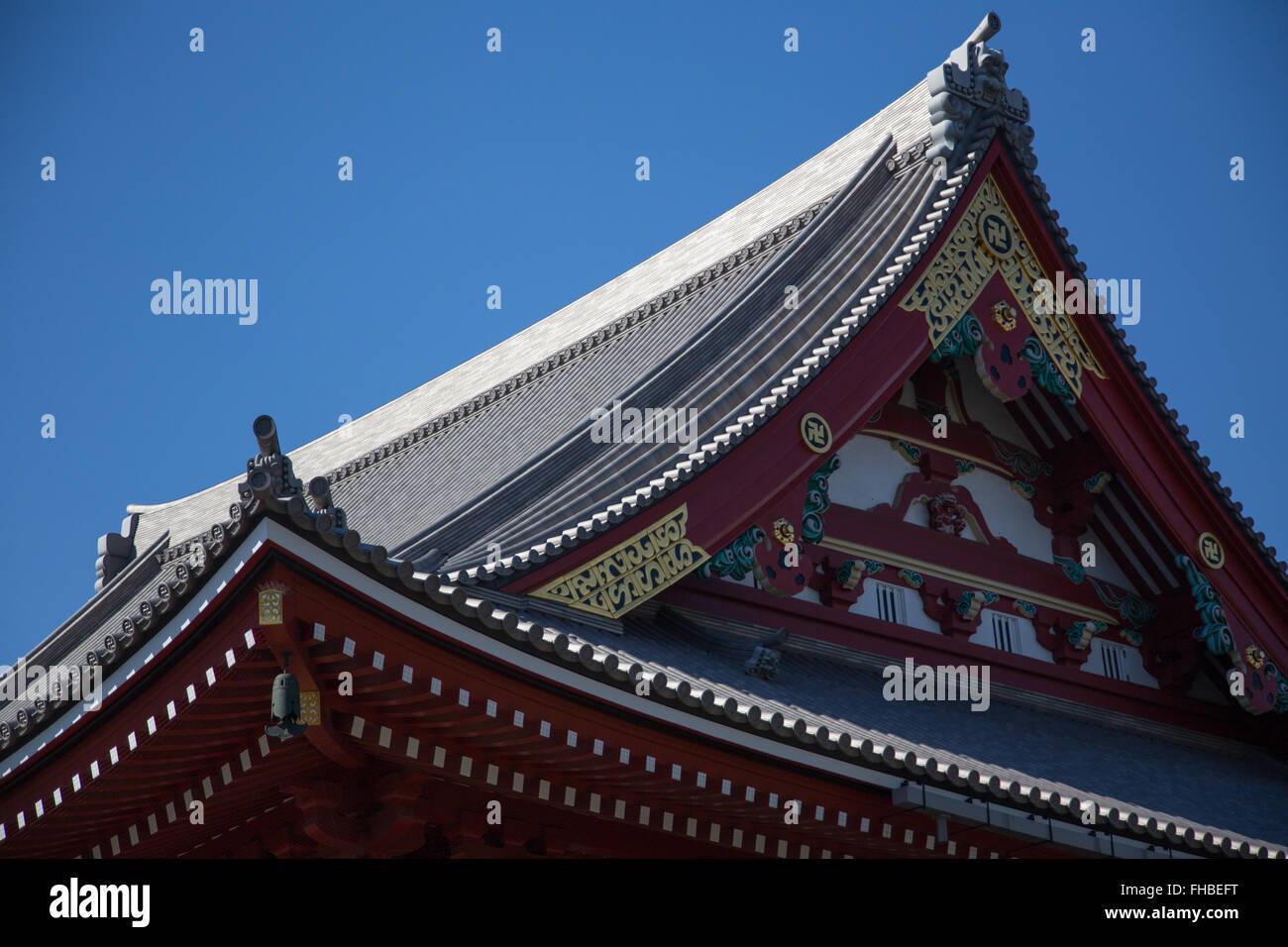 Japanese temple in Asakusa Tokyo Japan - Stock Image
