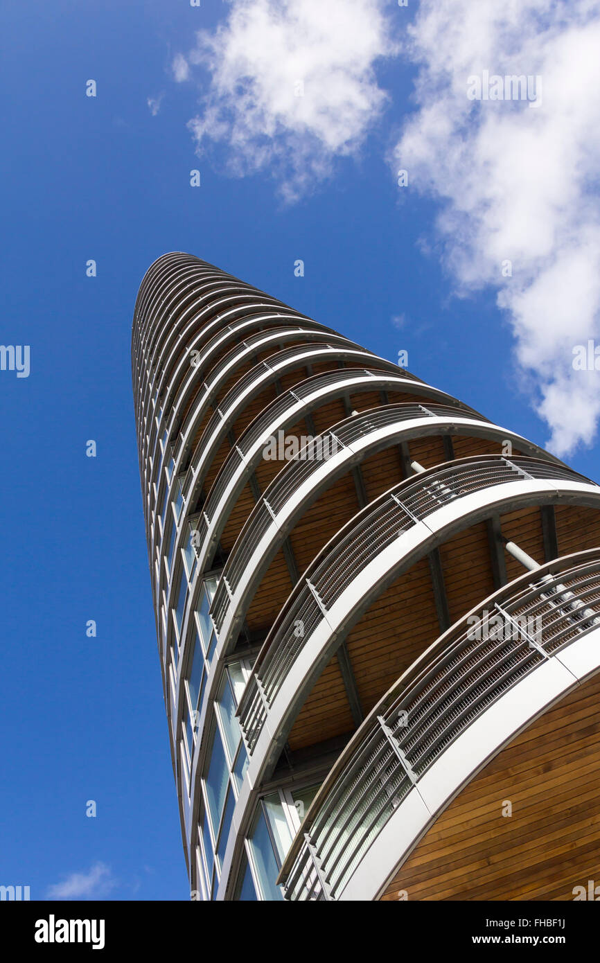 Admiralty Tower residential tower building on Queen Street, Portsmouth; a landmark building near the Historic Dockyard. - Stock Image