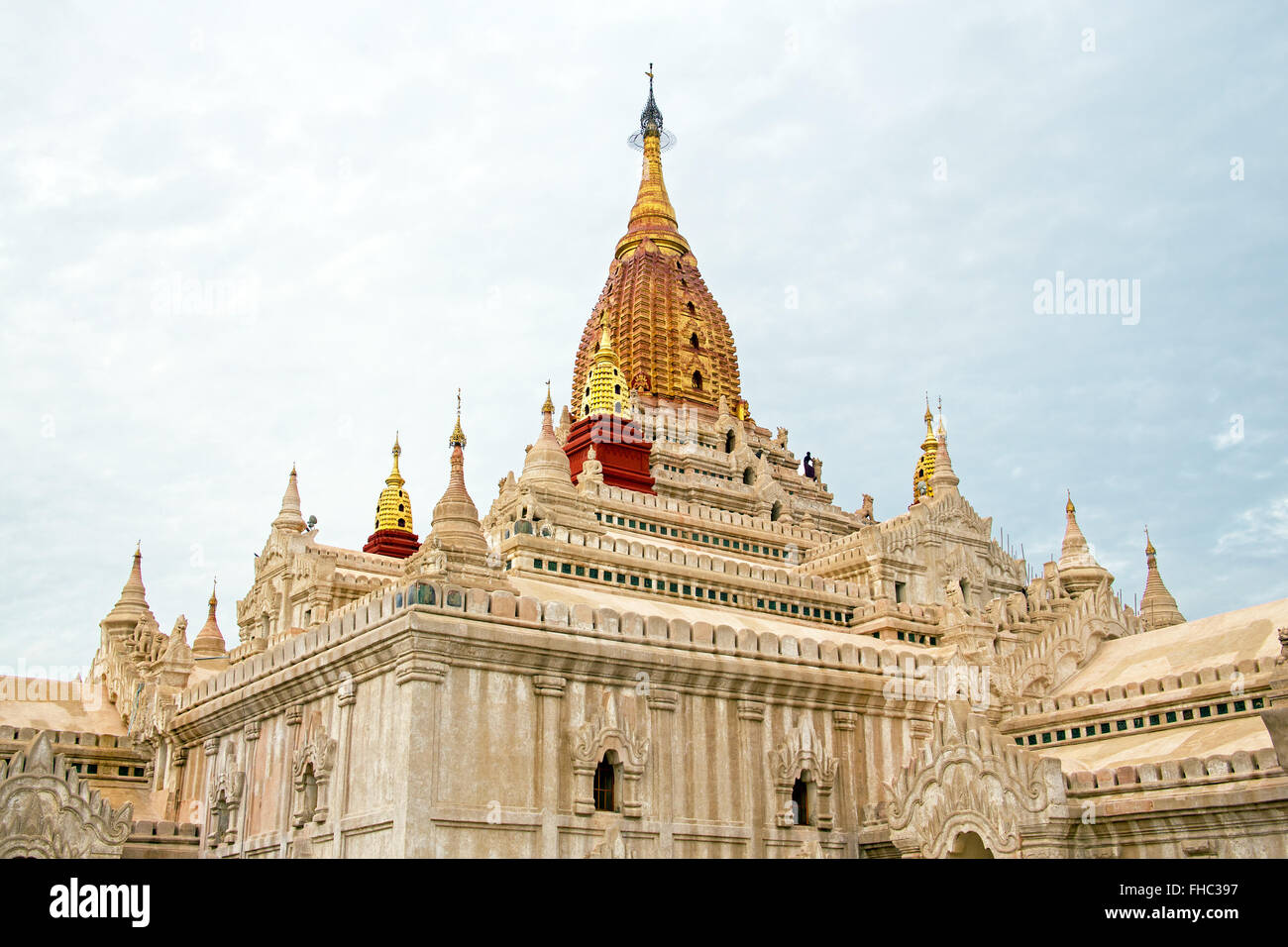 Ananda Temple in Bagan Myanmar - Stock Image