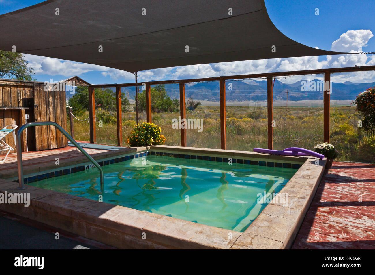 The JOYFUL JOURNEYS HOT SPRINGS - MOFFAT COLORADO - Stock Image