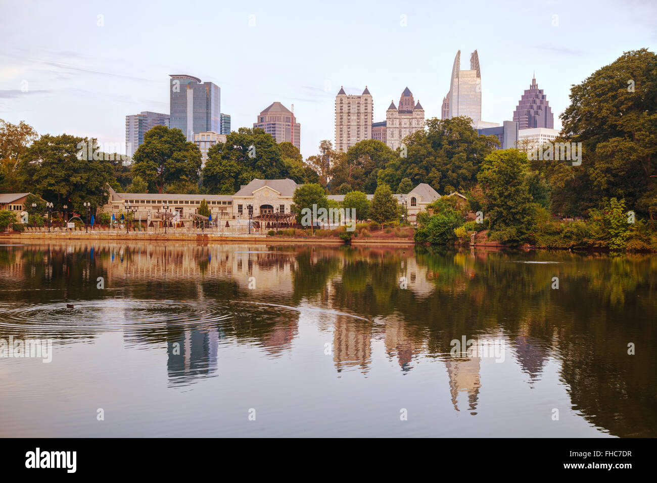Midtown Atlanta, Georgia at the sunrise time - Stock Image