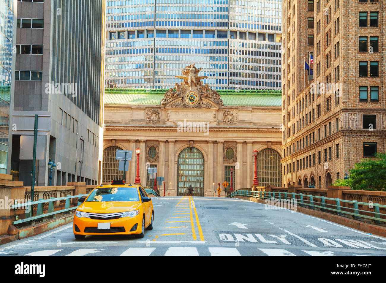 Grand Central Terminal viaduc and old entrance in New York - Stock Image