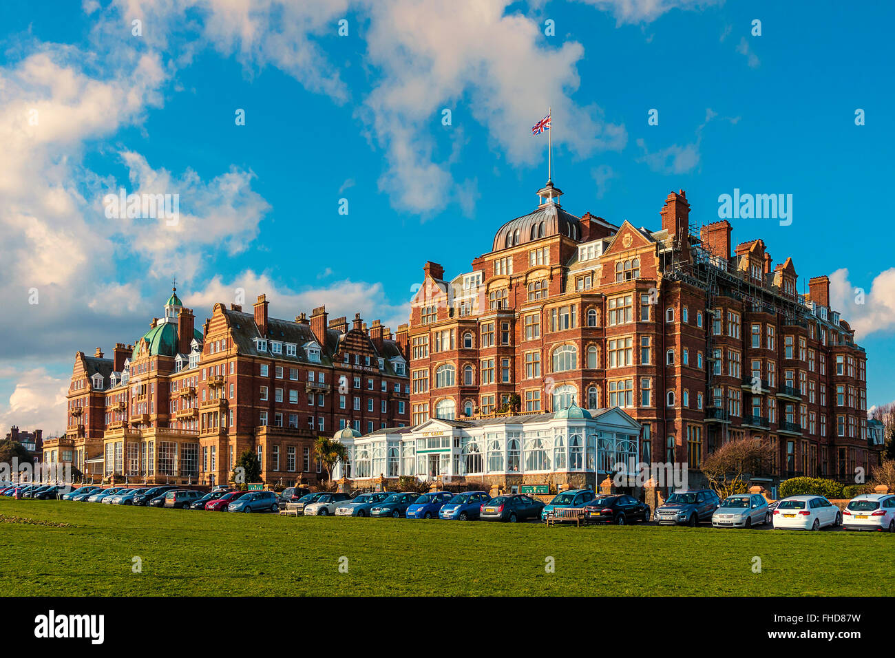 The Grand and the New Metropole The Lees Folkestone Kent UK - Stock Image