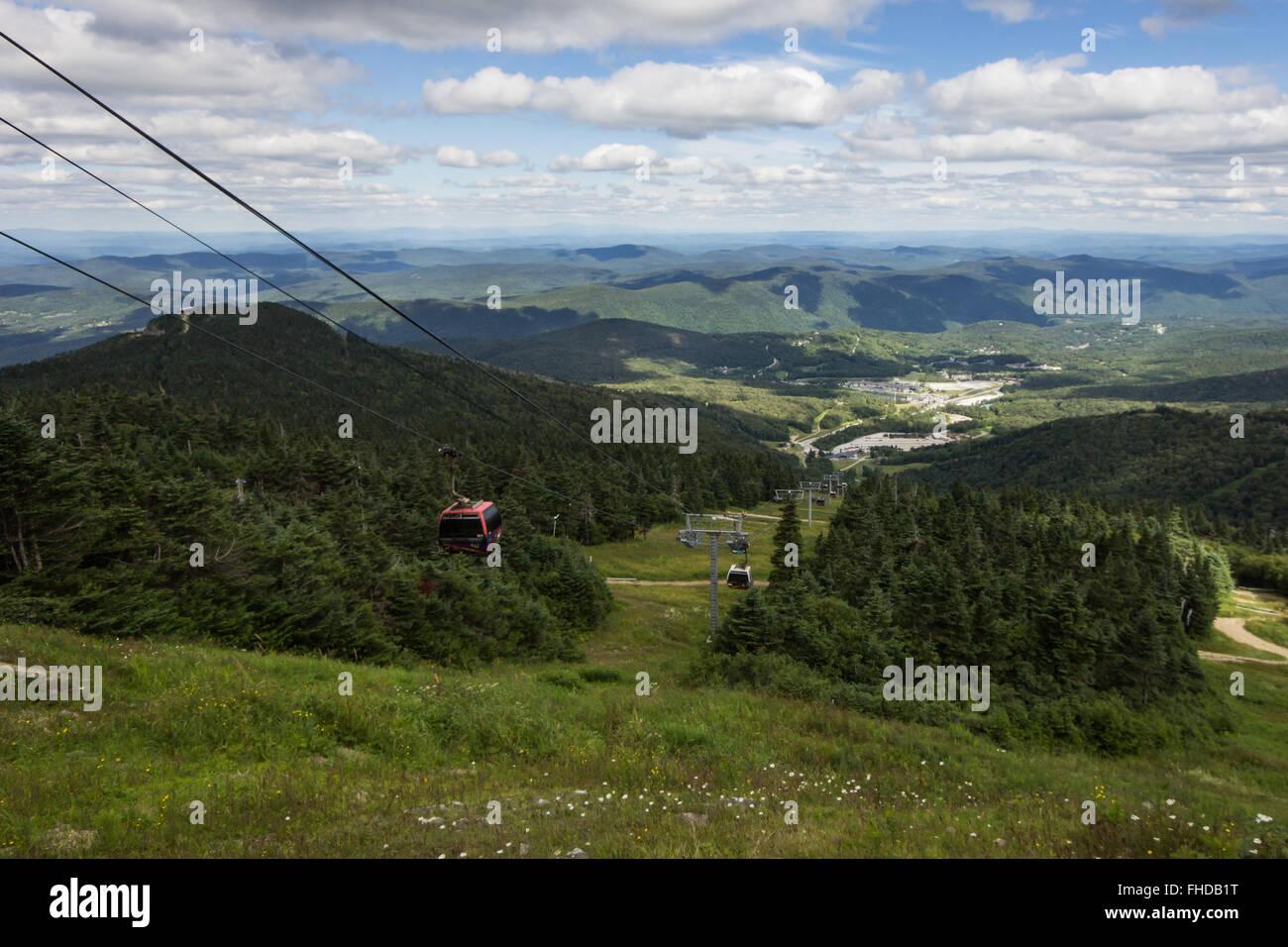 Ski Lift at Killington, Vermont - Stock Image