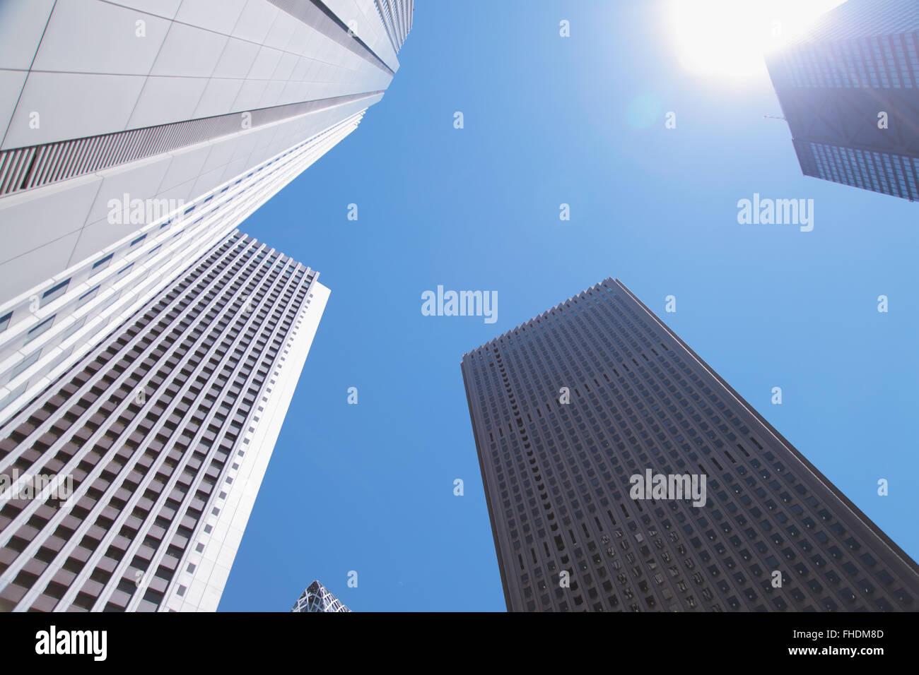 Office buidings in Shinjuku district, Tokyo, Japan - Stock Image