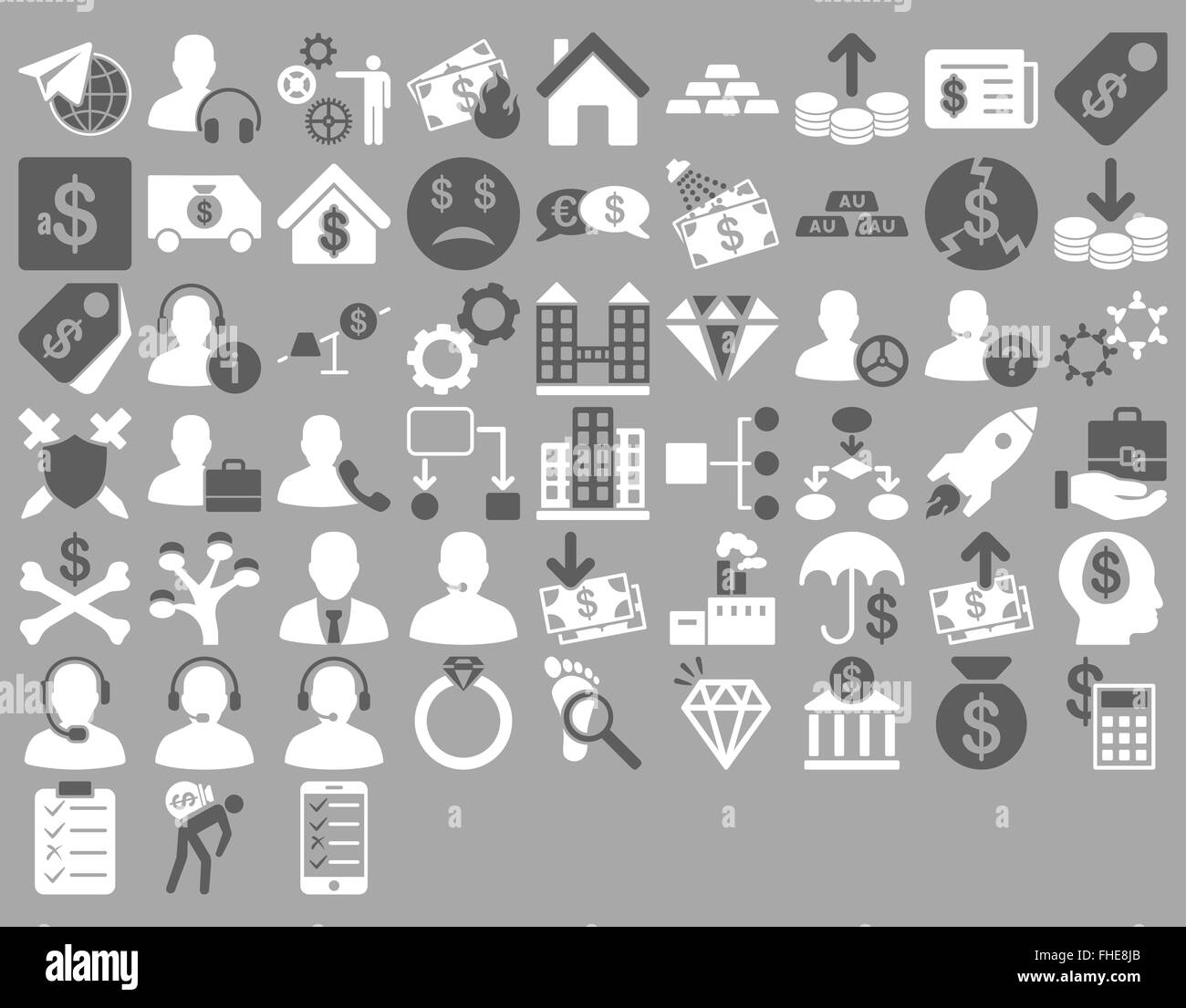 Commerce Icon Set - Stock Image