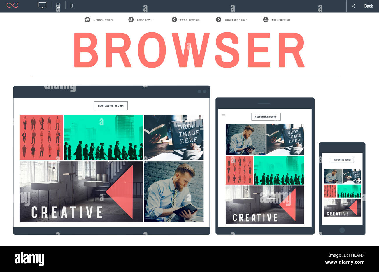 Browser Search Engine Browsing Web Page Technology Concept - Stock Image