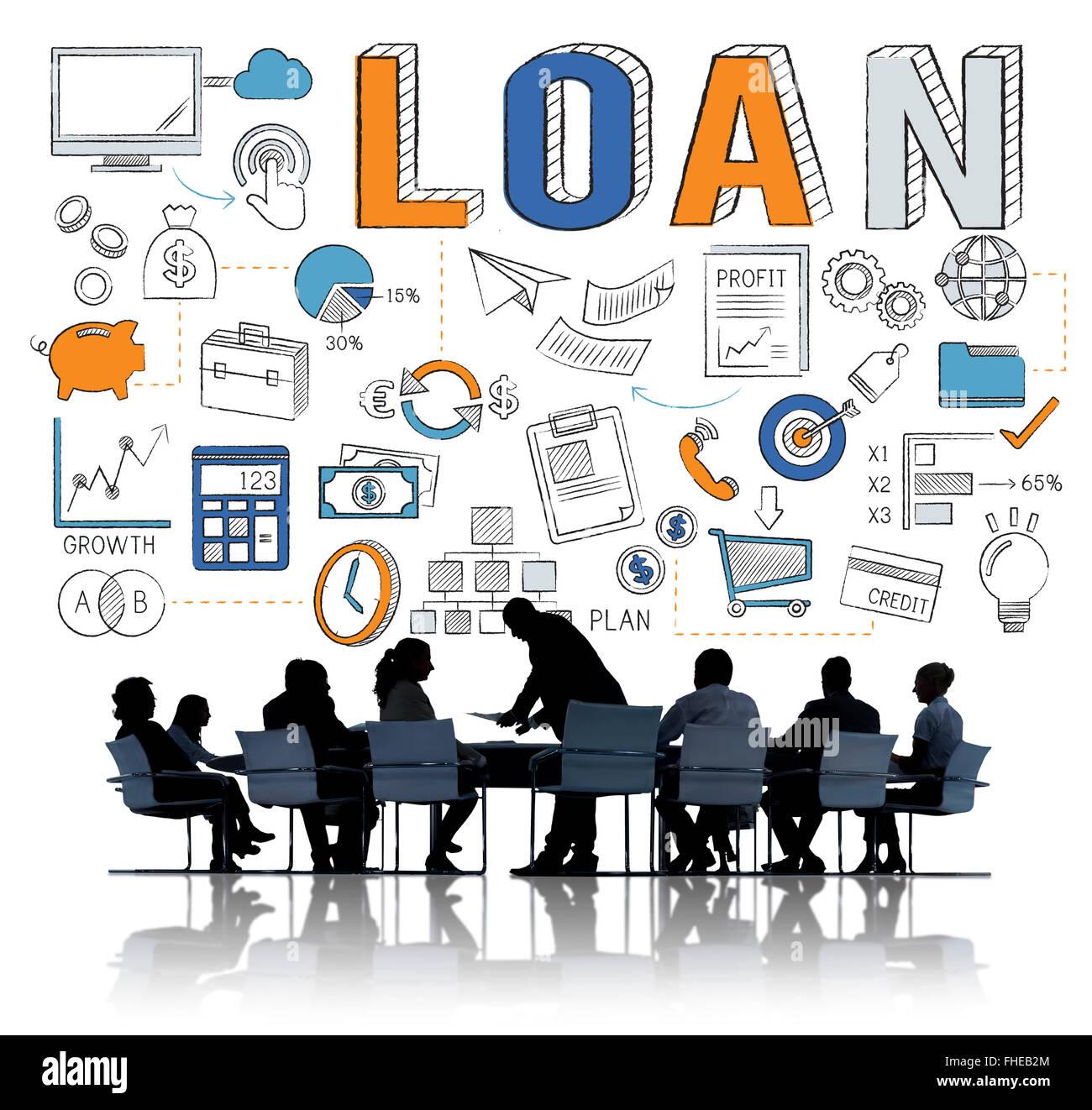 Loan Finance Economy Debt Money Banking Concept - Stock Image