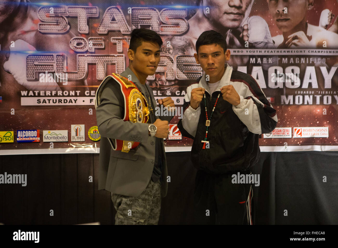Cebu City,Philippines 25/2/2016.Final press conference held at the Waterfront Hotel for Boxing promotion Pinoy Pride - Stock Image
