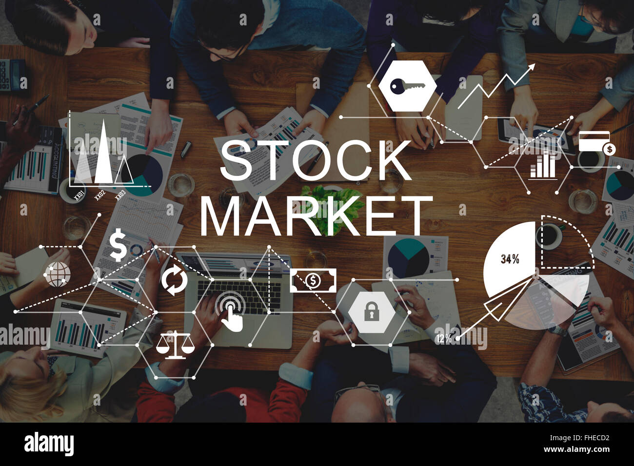 Stock Market Finance Financial Issues Concept - Stock Image