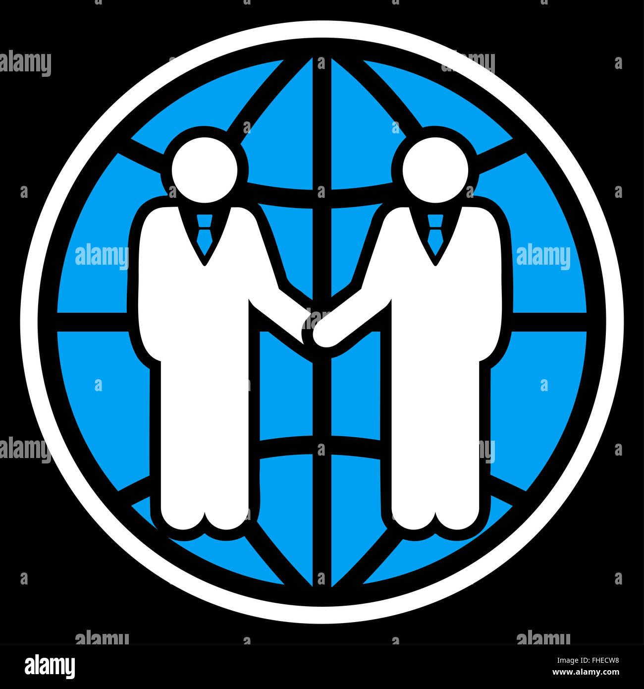 Global partnership icon - Stock Image