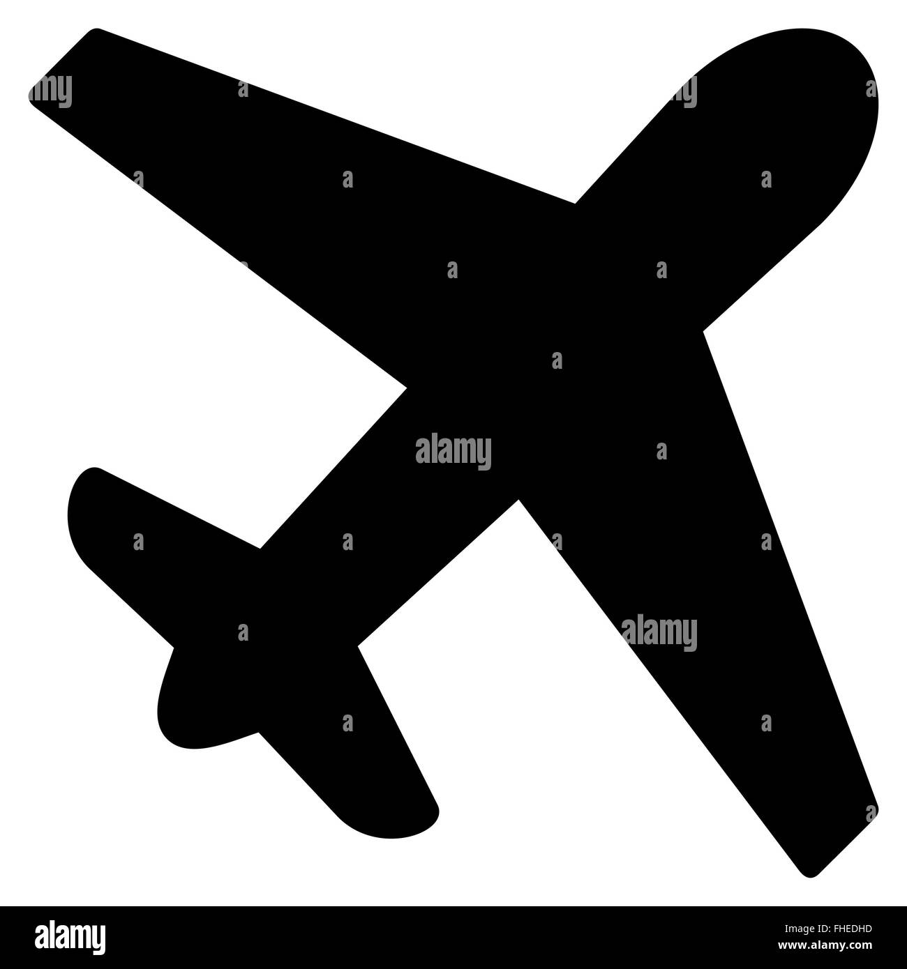 Airplane Flat Icon - Stock Image