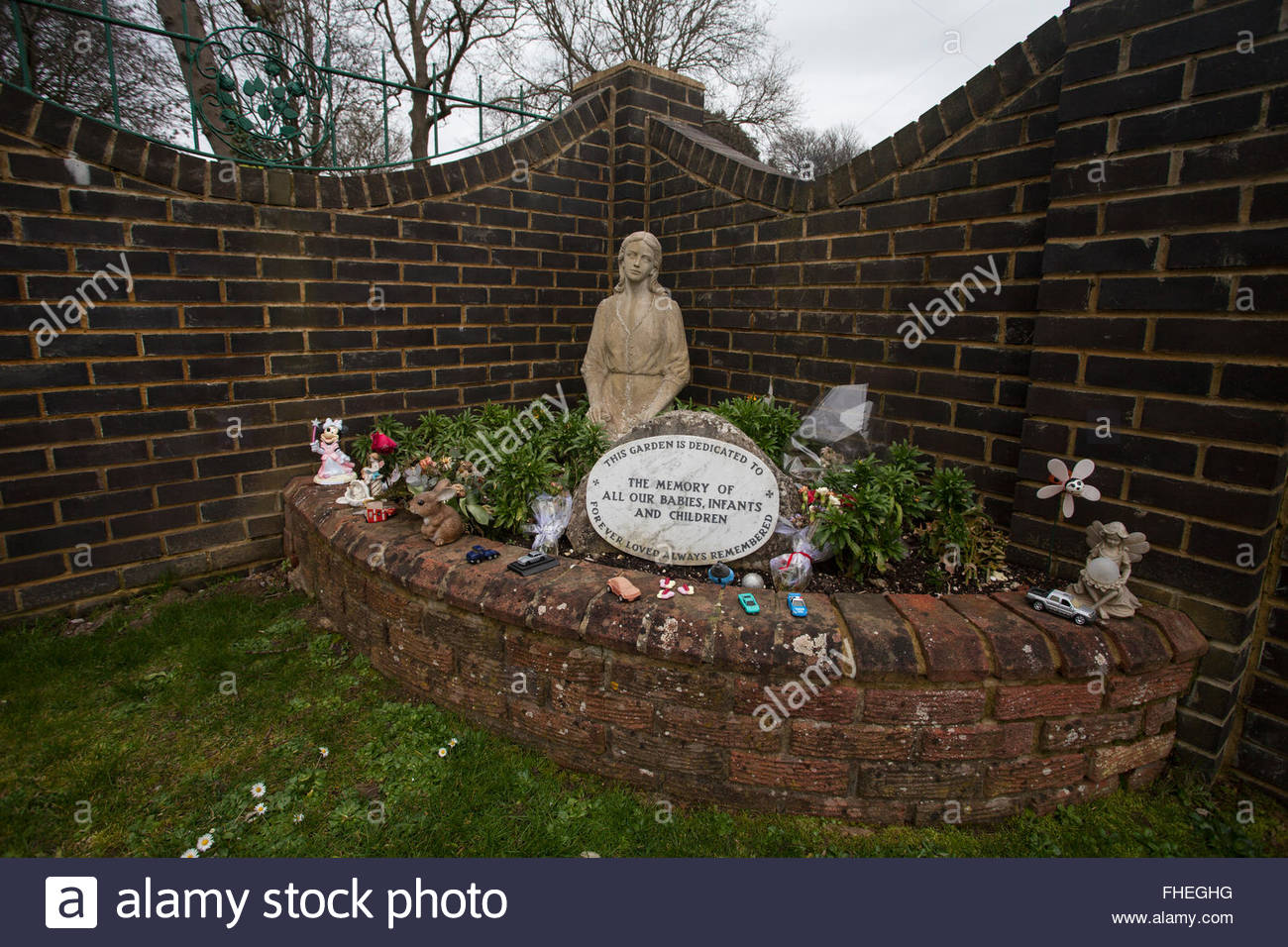 Statue in Garden in Memory of All Our Babies, Infants and Children ...