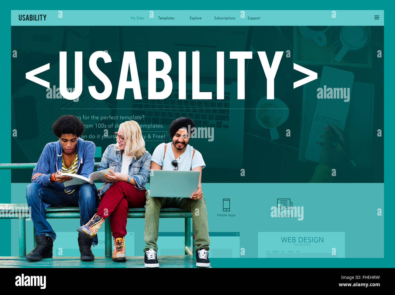 Usability Capability Purpose Quality Usefulness Concept - Stock Image