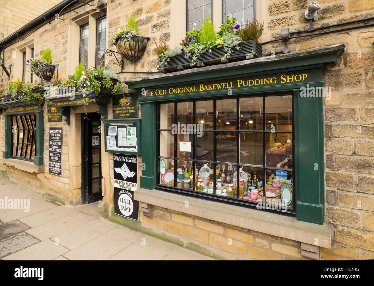 The Origonal Bakewell Pudding Shop - Stock Image