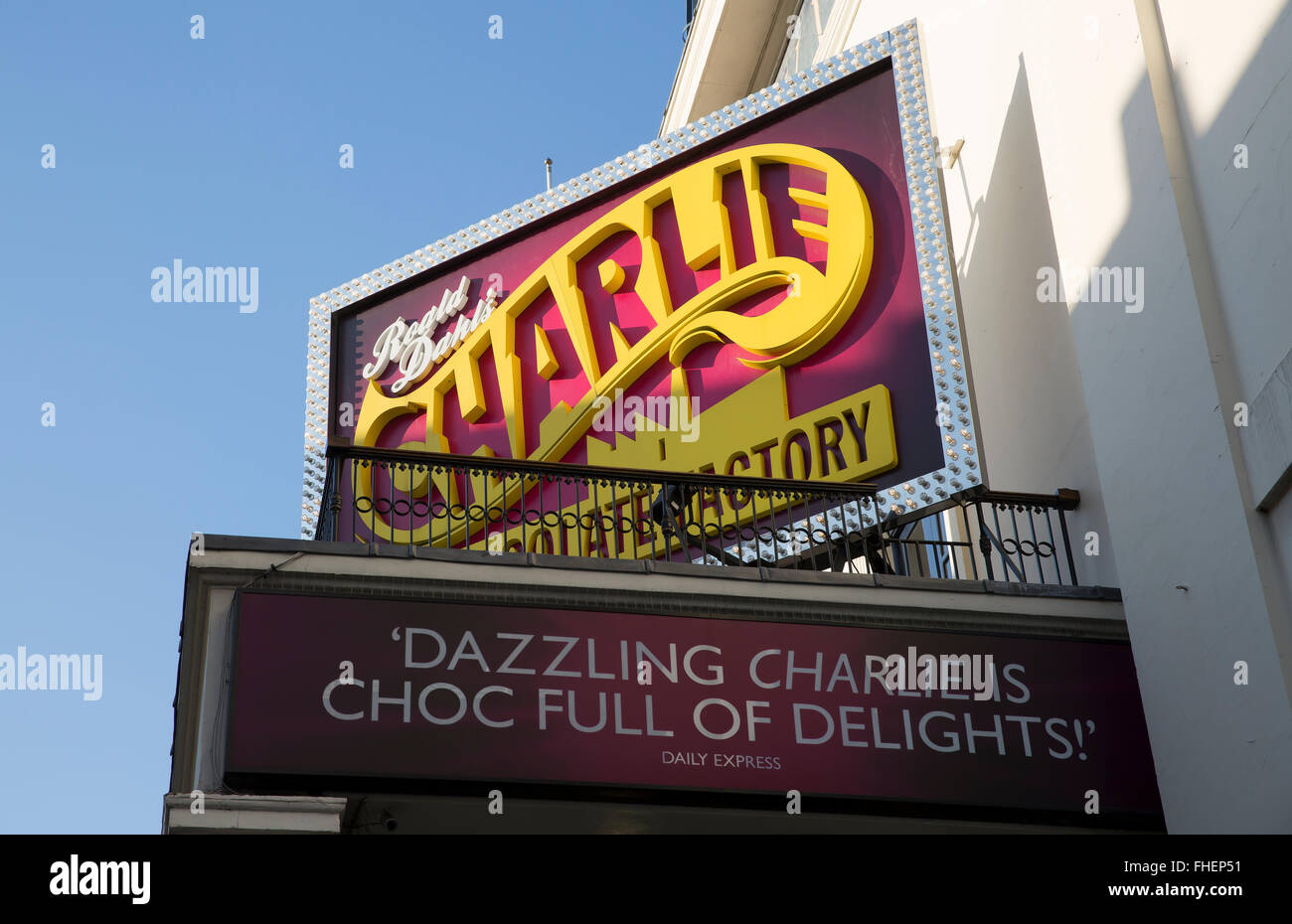Theatre Royal Drury Lane in London where Charlie and the Chocolate factory is currently playing - Stock Image