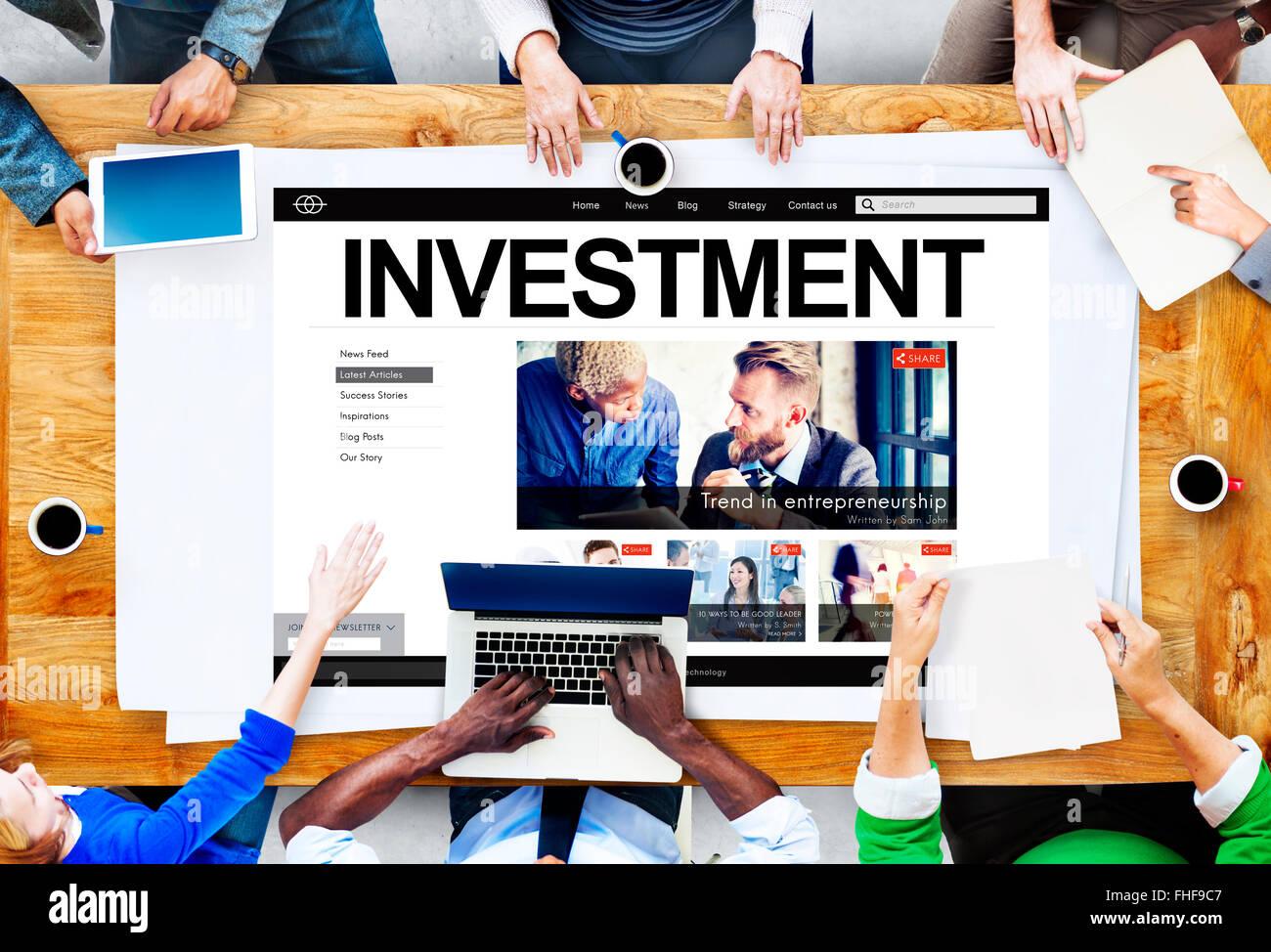 Invest Investment Profit Revenue Economy Concept - Stock Image