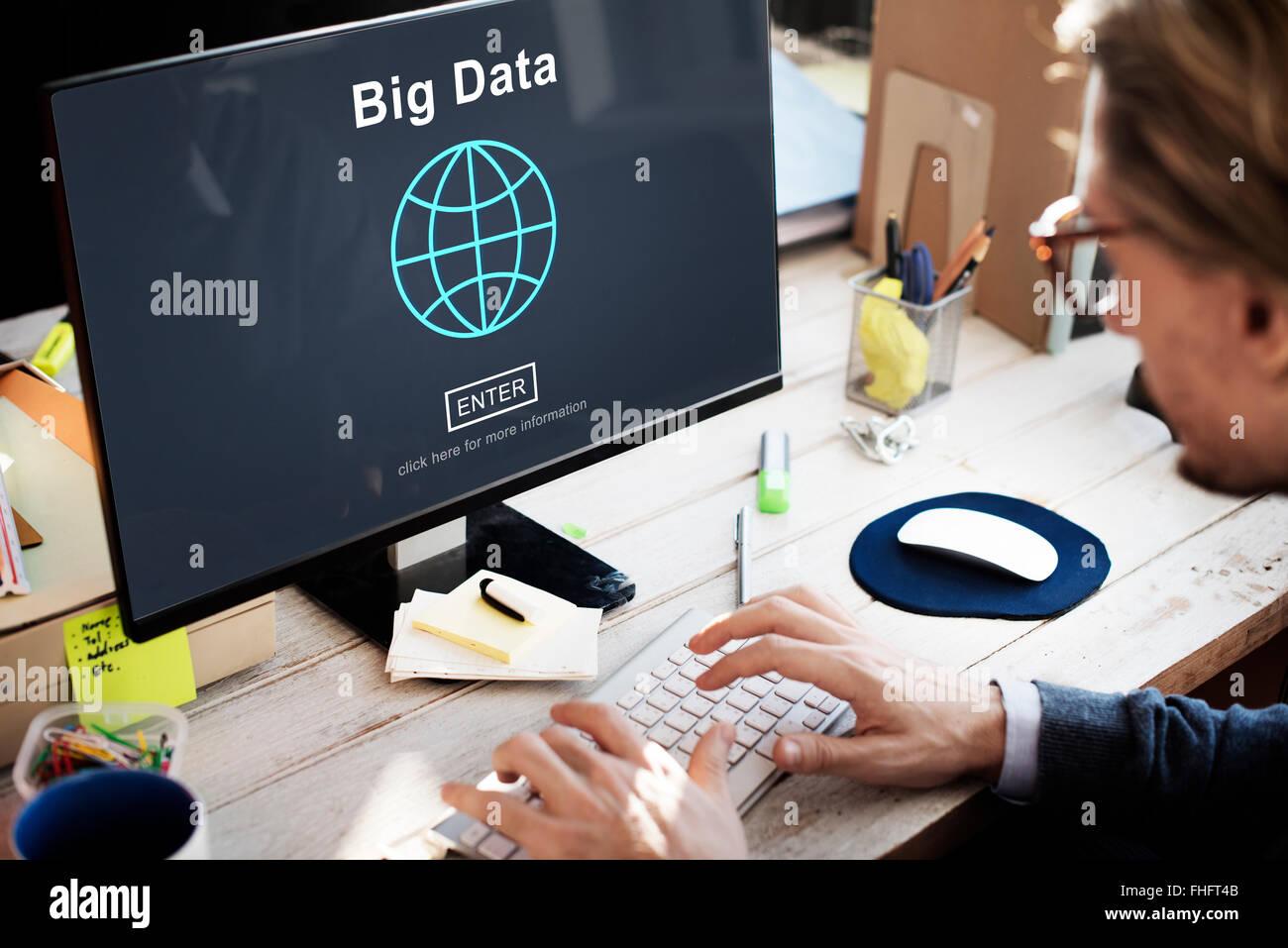 Big Data Information Storage System Network Technology Concept - Stock Image