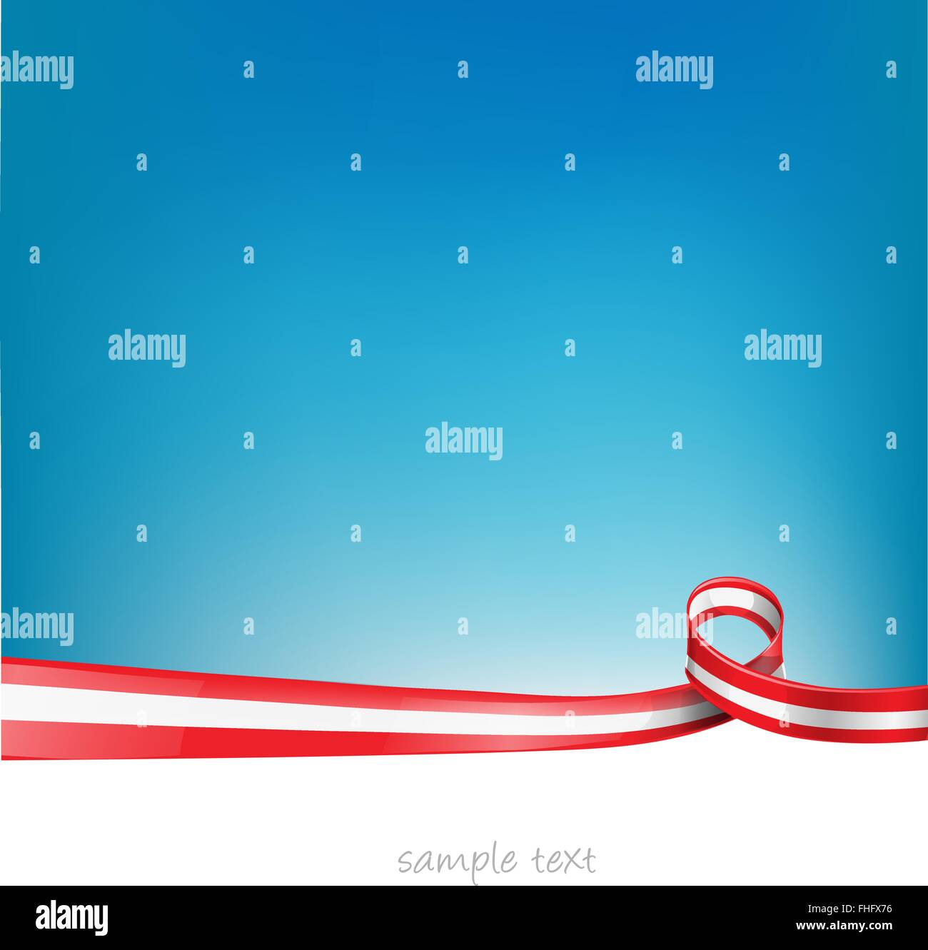 austria ribbon flag on background - Stock Vector