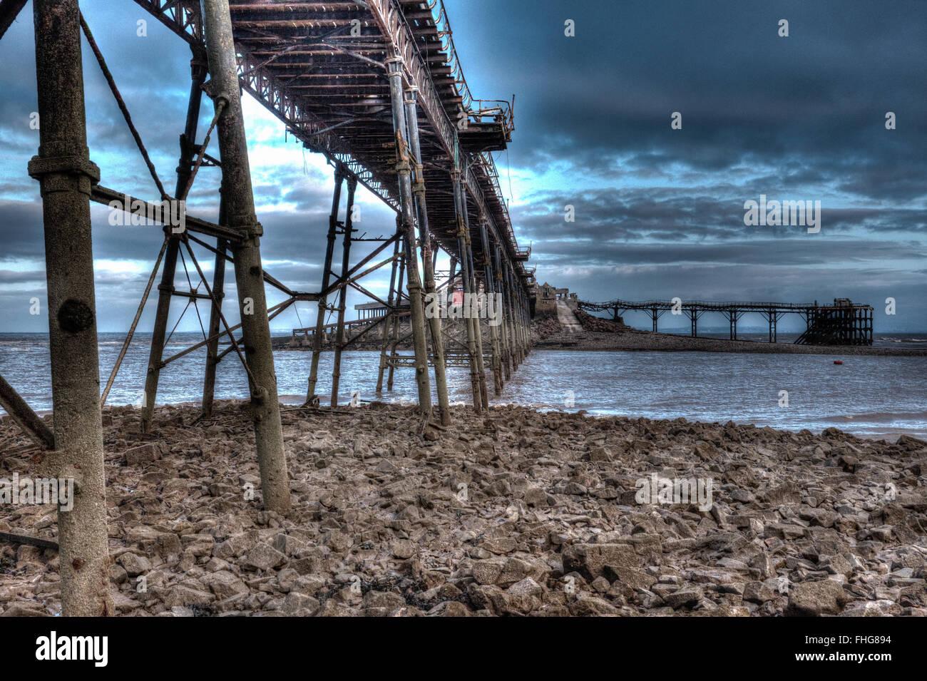 Birnbeck Pier Weston-super-Mare Somerset England in unique creative different  HDR - Stock Image