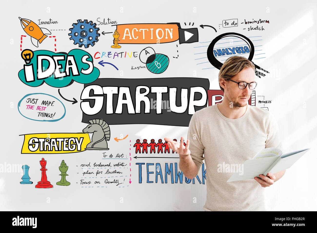 Start Up Business Growth Launch Aspiration Concept - Stock Image