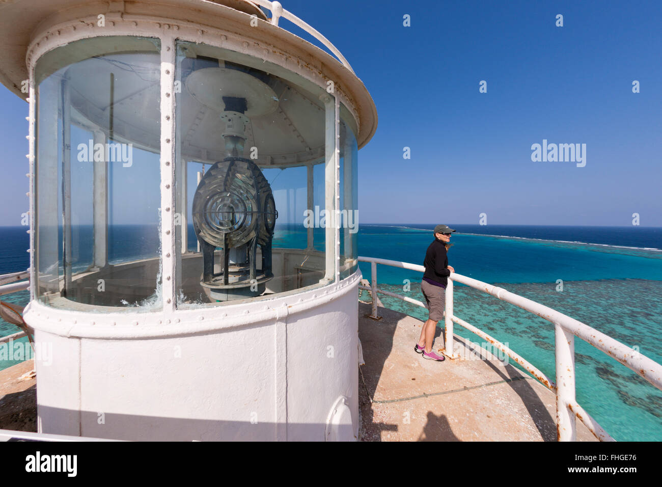 View from Sanganeb Lighthouse, Red Sea, Sudan - Stock Image