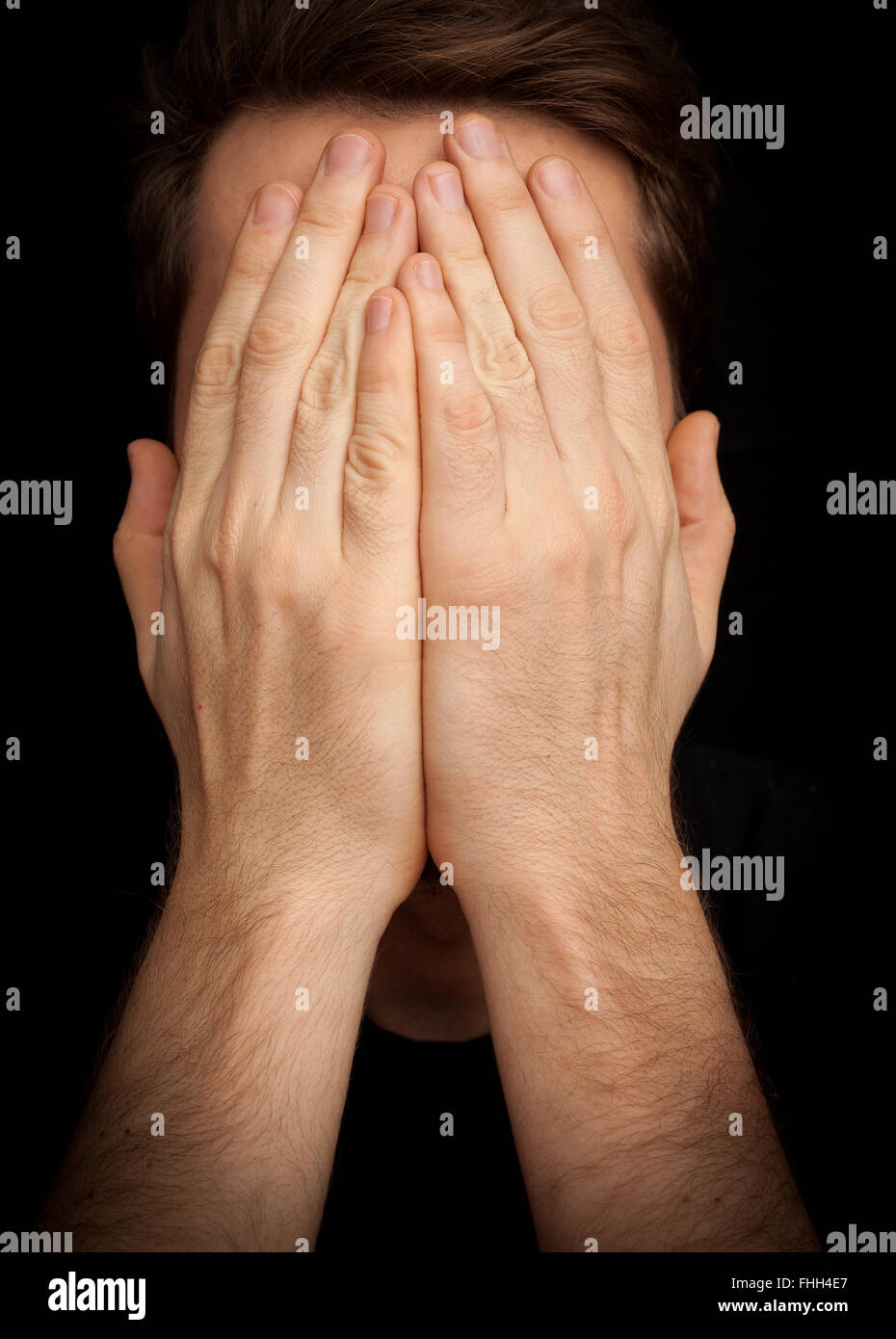 covering face with hands man covering face dark stock photos man covering face 9743