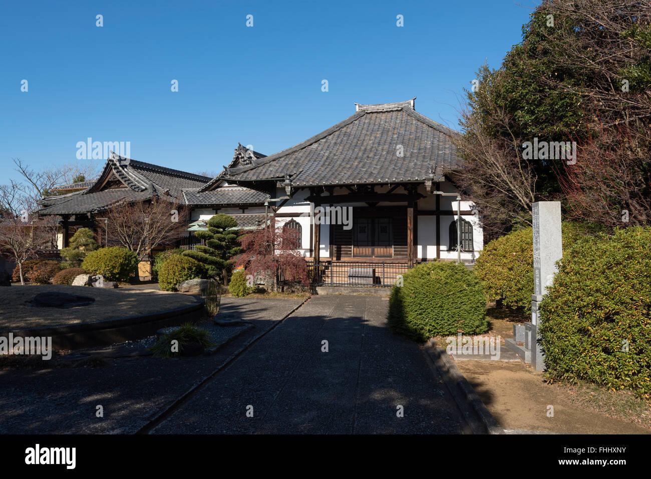 Tokyo, Japan - January 09, 2016:  Enmei-ji Temple in Yanaka, Tokyo - Japan. - Stock Image
