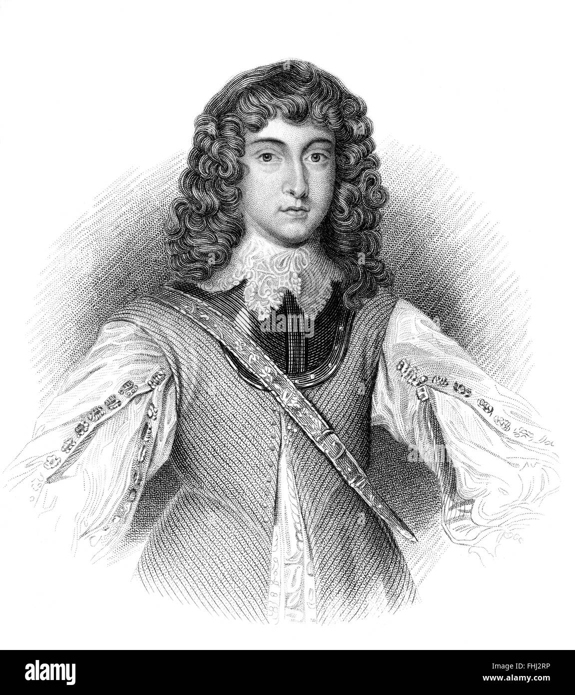 Prince Rupert of the Rhine, 1619-1682, a German soldier, admiral, scientist, sportsman, colonial governor - Stock Image